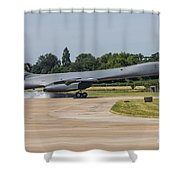 A B-1b Lancer Of The U.s. Air Force Shower Curtain