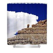 A Balanced Rock Shower Curtain