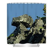 A Balancing Rock  Shower Curtain