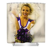A Baltimore Ravens Cheerleader  Shower Curtain
