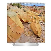 A Band Of Gold In Valley Of Fire Shower Curtain