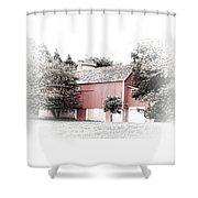 A Barn In The City Shower Curtain