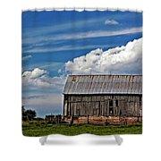 A Barn Shower Curtain