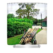 A Barrow Load Of Oars Shower Curtain