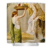 A Basket Of Roses Shower Curtain
