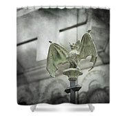 A Bat In The Belfry Shower Curtain