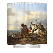 A Battle Shower Curtain