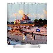 A Beach Scene Shower Curtain