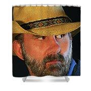 A Bearded Cowboy Shower Curtain