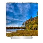 A Beautiful Autumn Day On West Lake Shower Curtain