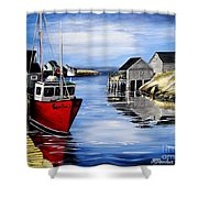 A Beautiful Day At Peggy's Cove  Shower Curtain