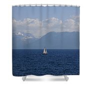 A Beautiful Day For Sailing Shower Curtain