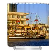 A Beautiful Day In Tampa Bay Shower Curtain