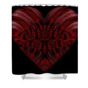 A Beautiful Heart Shower Curtain