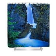 A Beautiful Waterfall, Johnston Canyon Shower Curtain