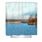 A Bed Of Reeds Shower Curtain