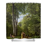 A Beech Wood In May Near Iselingen Manor Shower Curtain