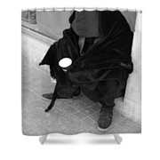 A Beggar In Jerusalem Shower Curtain