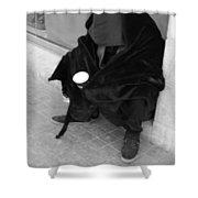 A Beggar In Jerusalem Shower Curtain