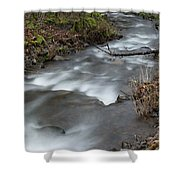 A Bend In The Flow Shower Curtain