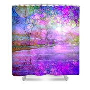 A Bewitching Purple Morning Shower Curtain