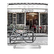 A Bicycle In Paris Shower Curtain