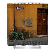 A Bike In Rome Shower Curtain