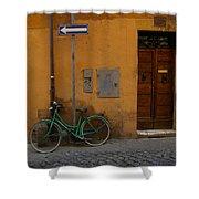 A Bike In Rome Shower Curtain