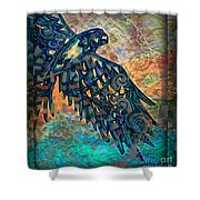 A Bird's Eye View Shower Curtain by Wbk