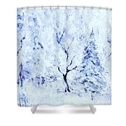 A Blanket Of Snow Shower Curtain