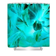 A Bloom In Turquoise Shower Curtain