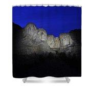 A Blue Rushmore Shower Curtain