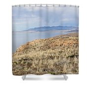 A Blue Sky Day 3 Shower Curtain