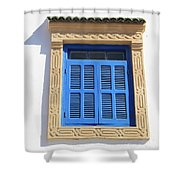 A Blue Window In Morocco Shower Curtain
