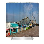 A Boardwalk Shower Curtain