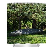 A Boat At Rest Shower Curtain