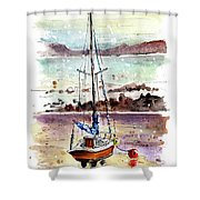 A Boat On Anglesey 01 Shower Curtain