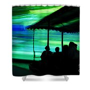 A Boat Ride Through Time Shower Curtain