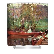 A Boating Party  Shower Curtain
