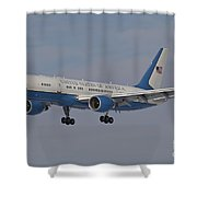 A Boeing C-32a Of The 89th Airlift Wing Shower Curtain