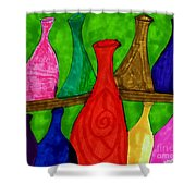 A Bottle Collection Shower Curtain