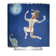 A Bout Of Lunacy Shower Curtain