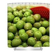 A Bowl Of Black Olives  Shower Curtain