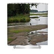 A Braided River Shower Curtain