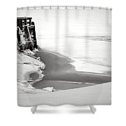 A Break In The Kennebec Shower Curtain