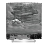 A Break In The Storm Bw Shower Curtain