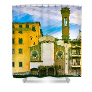 A Breeze Over Florence Shower Curtain