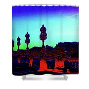 A Bridge Darkly 1 Shower Curtain
