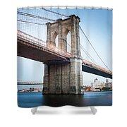 New York Bridge Shower Curtain