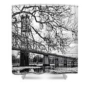 A Bridge In Winter Shower Curtain